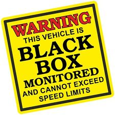 Warning This Vehicle Is BLACK BOX Monitored Insurance Safety Vinyl car sticker