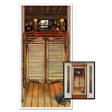 Wild West Saloon Plastic Door Cover - 76 x 152 cm - Western Party Decoration