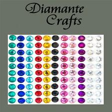 110 x 6mm Mixed Colours Diamante Self Adhesive Rhinestone Body Vajazzle Gems