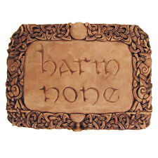 Harm None Wall Plaque - Wood Finish - Dryad Designs - Wiccan Wicca Pagan