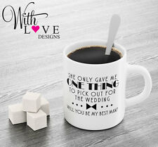 PERSONALISED BEST MAN ONE THING TO PICK COFFEE MUG TEA CUP WEDDING STAG DO GIFT