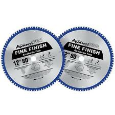 Avanti Pro 12 Inch 2 Pack Saw Blade Circular Blades Wood Cutting 1 in Arbor Tool