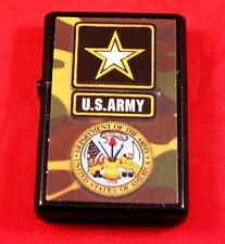 "Awesome 2"" One Side Printed Army Logo Black Zippo Lighter USA Military"