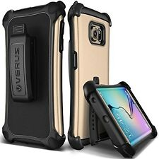 Galaxy S6 Edge Case, Verus [Thor Active][Shine Gold] - [Heavy Duty][Belt For S6