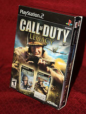 Call Of Duty Legacy PS2 W/Slipcase Activision FPS Finest Hour Big Red One