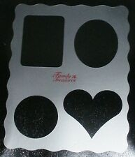 PLASTIC STENCIL SHEET - HEART, RECTANGLE, CIRCLE, OVAL