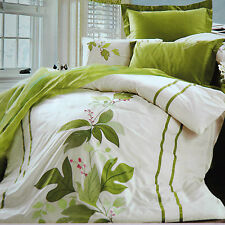 Quilt Cover 4PCS Set Cotton Embroidered Quilt Cover, Sheet, 2 Pillow Cases Queen