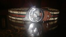 brown gucci belt unisex size 36 men brand new with plastic