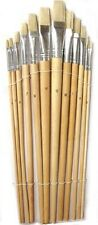 12 Paint BRUSH SET for Oil Watercolor Acrylic ART CRAFT ARTIST PAINTING