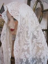 Antique ALENCON French Net Lace Runner 4 FEET  wedding Veil