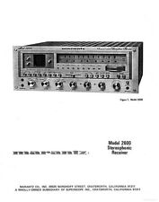 Marantz 2600 Receiver Owners Instruction Manual