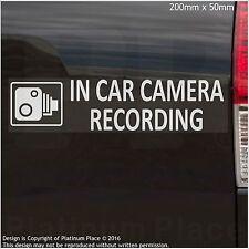 1 x EXTERNAL- In Car Camera Recording Stickers -CCTV Sign-Van,Lorry,Taxi,Minicab
