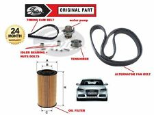 FOR AUDI A4 2.0 TFSI 2004  TIMING CAM BELT TENSIONER KIT + FAN BELT + OIL FILTER