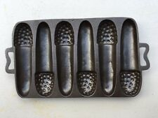 "Rare Early Lodge ""ACORN"" Cast Iron Corn Bread Pan"