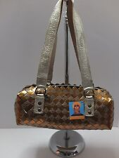 NAHUI OLLIN Recycled Eco-friendly Candy Wrapper Barrel Handbag NWT