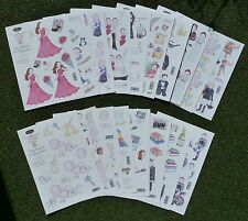 18 x A4 decoupage die cut sheets - toppers - children - motorbikes - Men - sport