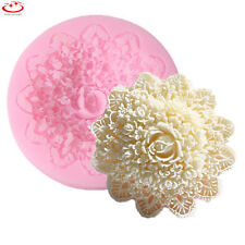 Silicone Lace Flower Mold Cake Chocolate Mold Fondant Decorating Baking Tool