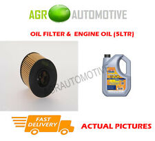 PETROL OIL FILTER + LL 5W30 ENGINE OIL FOR PEUGEOT 308 SW 1.6 156BHP 2014-