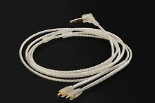 Silver Upgrade Audio Cable For Westone AC10 AC20 MUSICIAN MONITORS EARPHONES