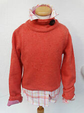 SET RIVER WOODS GR 10 140 PULLOVER WOLLPULLI STRICKPULLI ORANGE BLUSE HEMDBLUSE