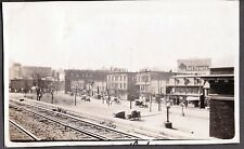 VINTAGE 1924 PHOTOGRAPH RAILROAD DEPOT TRAIN STATION RAILWAY TOWN VIEW OLD PHOTO