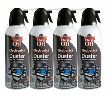 Dust-Off Compressed Air Gas Computer Keyboard Electronics Duster 10oz. 4 Pack