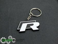 "BRAND NEW VW Volkswagen Driver Gear Black & White ""R"" Keytag Keychain Key Chain"