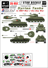 Star Decals, 35-952, Decal for Syrian Tanks in the 1967 Six-Day-War, 1:35