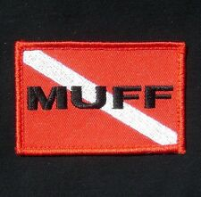 MUFF DIVER MUFF DIVING SCUBA DIVING FULL COLOR RED BLACK OPS BADGE IRON ON PATCH