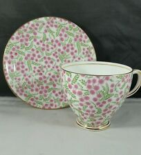 Old Royal English Bone China Teacup and Saucer Chintz Berries