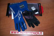 Guanti auto rally pista Alpinestars Tech 1 Start tg XL blu omolog. Fia 8856 2000
