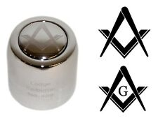 "MASONIC with or without ""G"". Champagne Bottle Stopper +YOUR ENGRAVING on 3 Lines"
