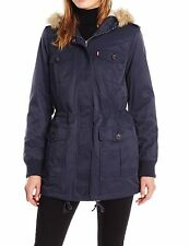 Levi's NEW Blue Women's Size XS Hooded Sherpa-Lined Parka Jacket $89 #106