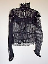 Remains of a Vintage Black Sheer Victorian Pleated Bodice Blouse