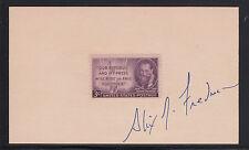 Alix M. Freedman, 1996 Pulitzer Prize winner, signature on 3X5 card, VF