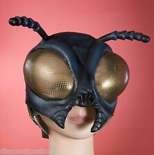 FLY MASK HUMAN FLY ADULT SIZE PVC OVERHEAD MASK  HALLOWEEN COSTUME ACCESSORY