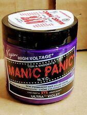 Manic Panic Creme Formula Semi - Permanent Hair Dye 4 oz. Ultra Violet
