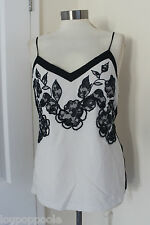 size 8 beige and black beaded top from next brand new