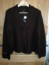 Dorothy Perkins Brown Chunky 1-Button Cardigan - UK 18 - BNWT