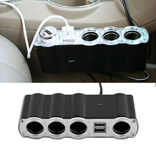 4 Way Multi Socket Car Cigarette Lighter Splitter USB Plug Adapter Charger UR