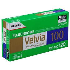 5 Pack Fuji Velvia 100ASA RVP100 120 Roll Film - Colour Reversal Slide Film