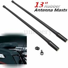 2x 13'' Antenna Masts AM FM XM Radio For Harley Davidson 1985 thru 2013 Touring