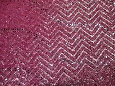 2 yards stretch knit fabric with foil and sequin decoration
