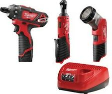 "Milwaukee 2591-23 12V 1/4"" Screwdriver & Impact Wrench with 3 Pc. Light Fuel Kit"