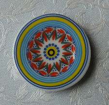 Dolls house miniatures: porcelain plate sun design