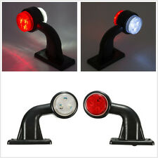 Red/White Side Marker 12 LED Light Lamp For Trailer Truck Lorry Caravan 10-30V
