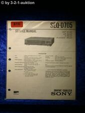 Sony Service Manual SEQ D705 Graphic Equalizer (#0816)