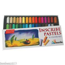 Inscribe Pastelli Professionali 32 Metà Adesivi Cofanetto Colori Assortiti Arte