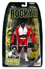 ROCKY II MOVIE APOLLO CREED IN WHITE ROBE ACTION FIGURE BALBOA LANG JAKKS NEW