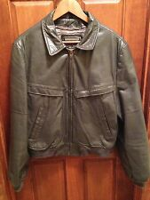 Vintage Cooper Gray Leather A-2 Type Motorcycle Flight Jacket Men's Size 44